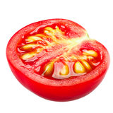Halv körsbärsröd tomat, banor royaltyfria bilder