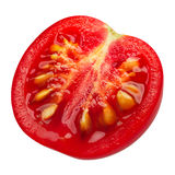 Halv körsbärsröd tomat, banor royaltyfri fotografi