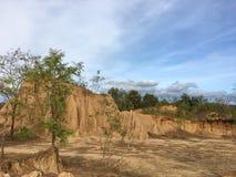 Halv-konsoliderad geografi i Nan Province av Thailand arkivfoton