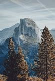 Halv kupol på den Yosemite nationalparken royaltyfri fotografi