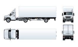 Halv lastbilmall för vektor som isoleras på vit Royaltyfri Fotografi