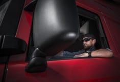 Halv lastbilsförare Job royaltyfri foto
