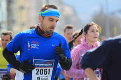 Halv maraton i Prague - Petr Nechoddoma Arkivbilder
