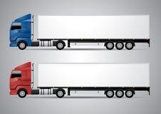 Halv-släp lastbil - vektorillustration Royaltyfria Foton