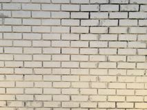 Halv vit färg för tegelstenvägg arkivfoto