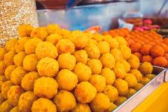 halva东方甜点三个传统种类 吉隆坡,马来西亚 库存照片