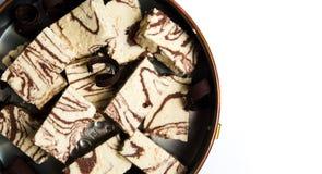 Halva с частями какао на плите Стоковое фото RF