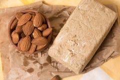 Halva with almonds Royalty Free Stock Photos