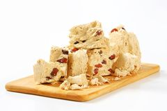 Halva with almonds Stock Images