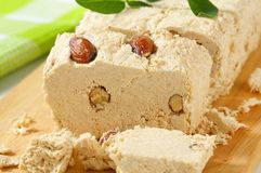 Halva with almonds Royalty Free Stock Image