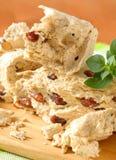 Halva with almonds Stock Photo