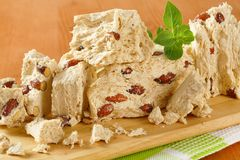 Halva with almonds Stock Photography