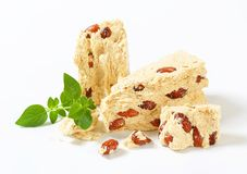 Halva with almonds Royalty Free Stock Photography