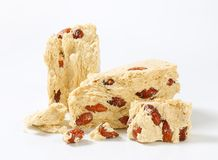 Halva with almonds Royalty Free Stock Photo