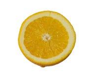 Halva av den nya orange bästa sikten som isoleras på vit bakgrund Arkivbilder