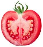 Halva av tomaten på en vit bakgrund Royaltyfri Fotografi