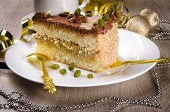 Halva Cake, Kaffe And Champagne Stock Image