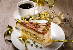Halva Cake, Kaffe And Champagne Stock Photography