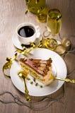 Halva cake, Kaffe and champagne Stock Photo