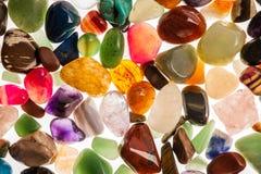 Halva dyrbara Gem Stones Royaltyfria Bilder