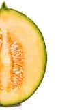 Halva en cantaloupmelonmelon Fotografering för Bildbyråer