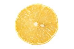 Halva en citron på isolerad bästa sikt för bakgrund Royaltyfri Fotografi