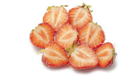 Halva jordgubbar Arkivfoto