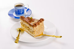 Halva Kuchen, Kaffe und Champagner Lizenzfreie Stockfotografie