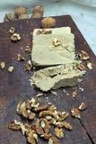 Halva and nuts Stock Photos