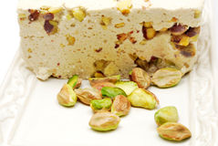 Halva with pistachios Royalty Free Stock Images