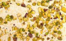 Halva with pistachios. Background closeup stock images