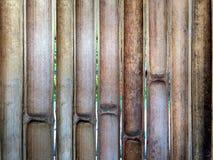 Halva-snitt bambustaket Royaltyfria Bilder