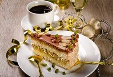 halva tortowy szampański kaffe Fotografia Stock