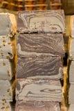 Halvah ή Halva ένα γλυκό που γίνεται με την κόλλα σουσαμιού tahini Στοκ εικόνες με δικαίωμα ελεύθερης χρήσης