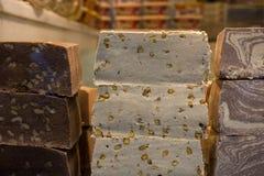 Halvah ή Halva ένα γλυκό που γίνεται με την κόλλα σουσαμιού tahini Στοκ Φωτογραφίες
