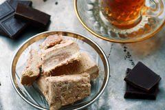 Halvah, παραδοσιακό ανατολικό γλυκό Στοκ φωτογραφίες με δικαίωμα ελεύθερης χρήσης