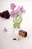 Halvah con el chocolate Fotos de archivo libres de regalías