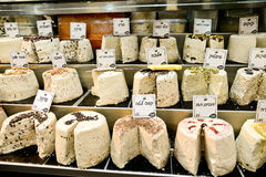 Halva, Market, Jerusalem, Israel. Spices, halva, cakes, sweets, fruits, vegetables on display in Israeli Market, Jerusalem, Israel Stock Photo