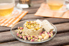 Halvah with pistachios Royalty Free Stock Photo