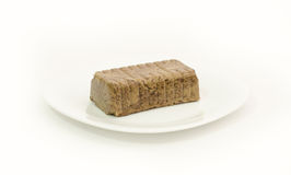 Halvah on white background Royalty Free Stock Image