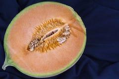 Halvan av en melon Fotografering för Bildbyråer