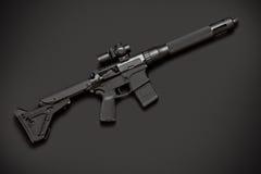 Halvautomatiskt gevär för anfall Arkivfoto