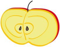 Halve appel Royalty-vrije Stock Afbeeldingen