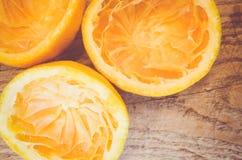 halve besnoeiing gedrukte sinaasappelen royalty-vrije stock afbeeldingen