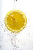 Halve citroenwas royalty-vrije stock fotografie