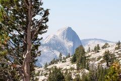 Halve die Koepelberg in Yosemite-Vallei wordt gesitueerd Royalty-vrije Stock Foto's