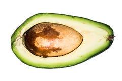 Halve geïsoleerde avocado Stock Fotografie
