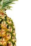Halve geïsoleerdet Ananas Royalty-vrije Stock Foto