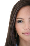 Halve gezichts mooie jonge vrouw Royalty-vrije Stock Foto