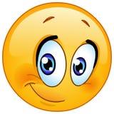 Halve glimlach emoticon royalty-vrije illustratie